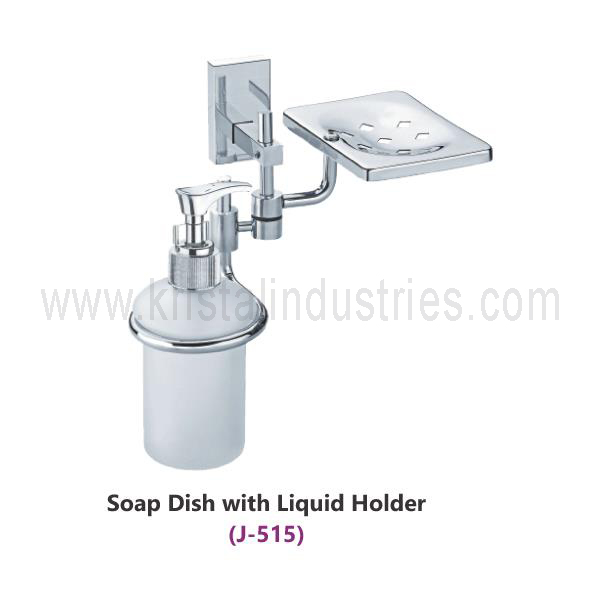 Soap Dish With Liquid Holder (J - 515)