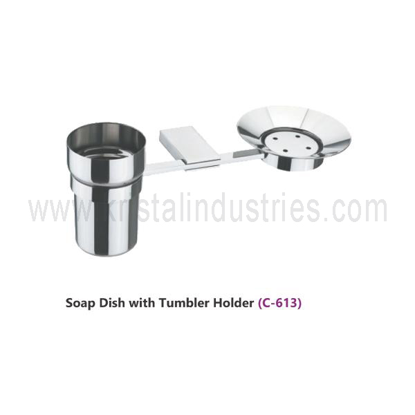 Soap Dish with Tumbler Holder  (C - 613)