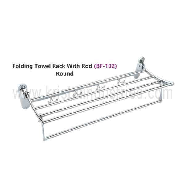 Folding Towel Rack with Rod (BF-102)