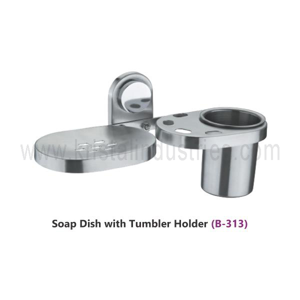 Soap Dish with Tumbler Holder  (C - 313)
