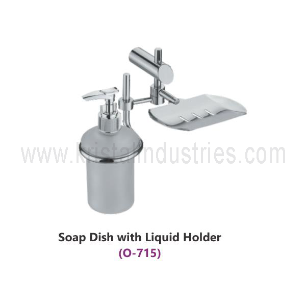 Soap Dish with Liquid Holder (O - 715)